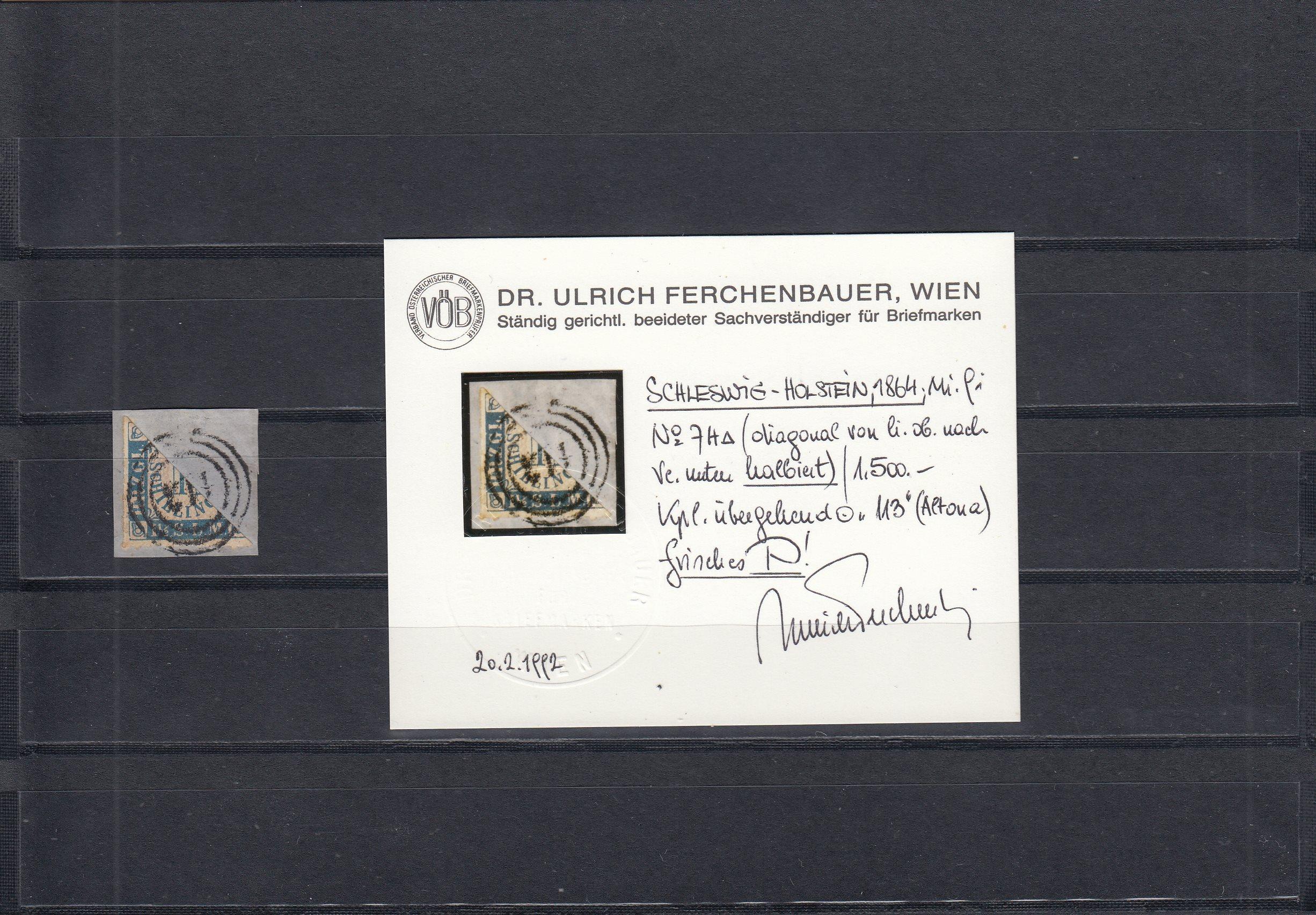Schleswig-Holstein-MiNr-7H-Briefstueck