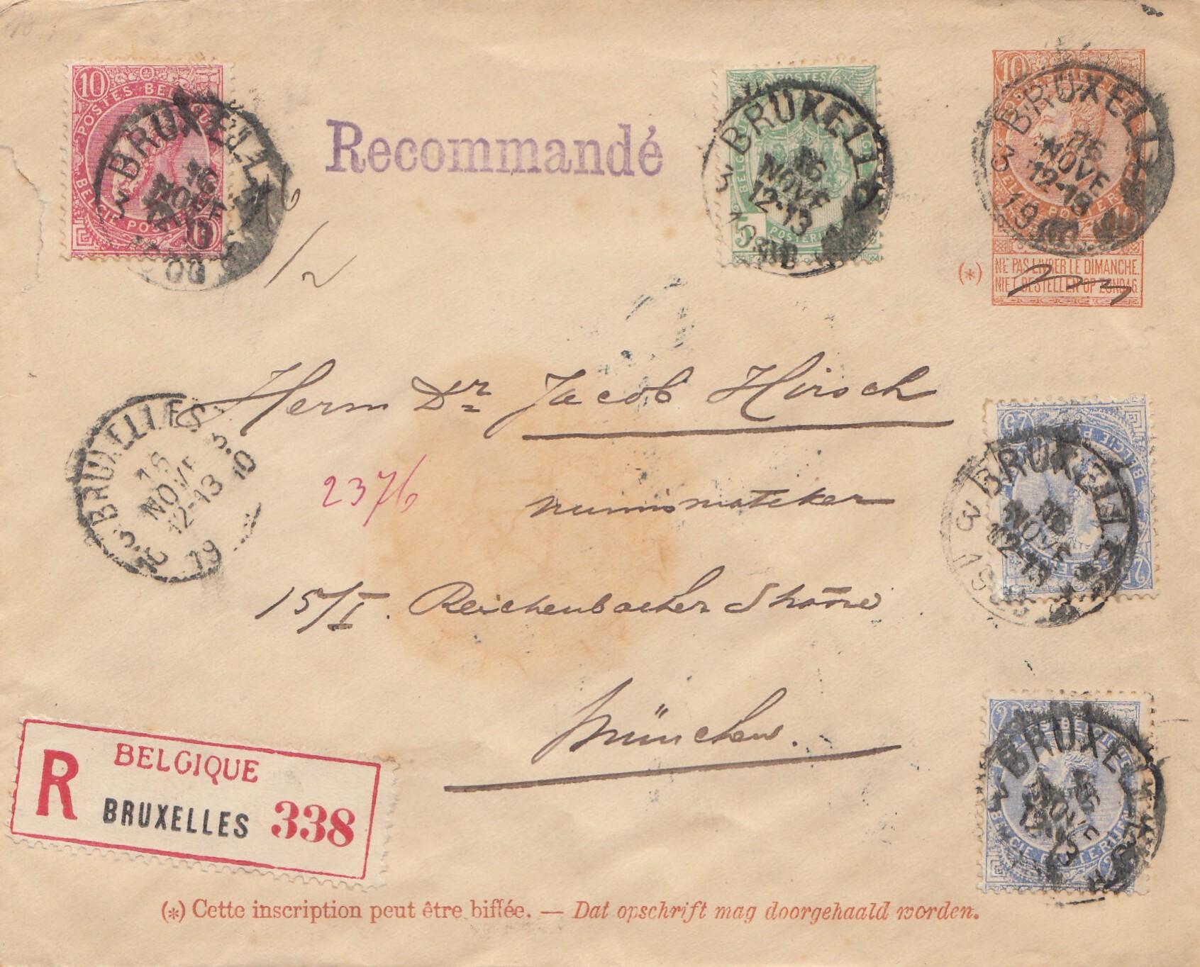 Brief Nach Belgien Kosten : Belgien brief von bruxelles nach münchen ebay