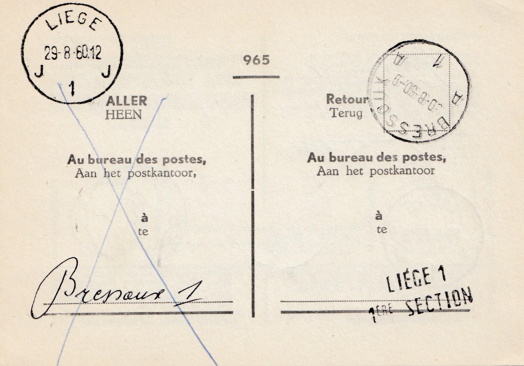Brief Nach Belgien Frankieren : Belgien bressoux nach liege · philarena