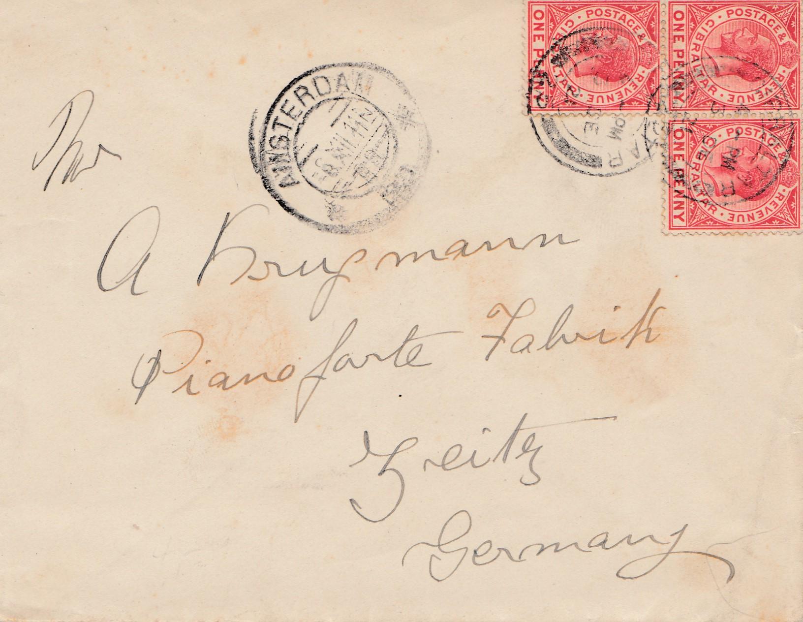 Brief Nach Hamburg Briefmarke : Gibraltar brief nach deutschland · philarena