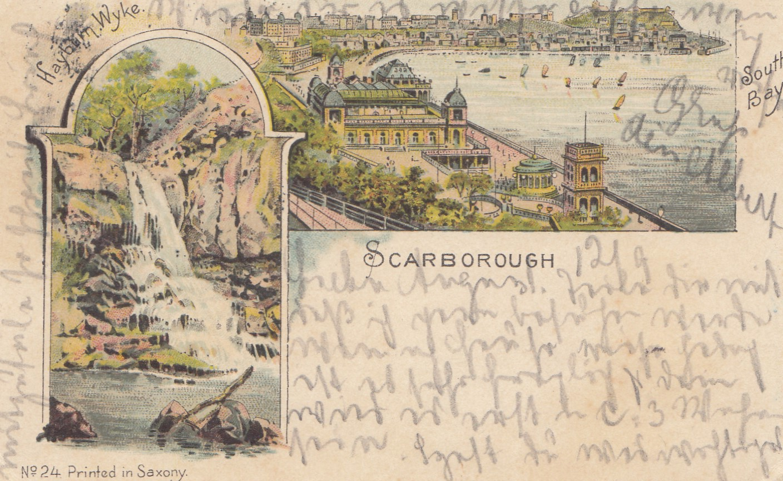 england 1897 ansichtskarte scarborough nach heilbornn philarena. Black Bedroom Furniture Sets. Home Design Ideas