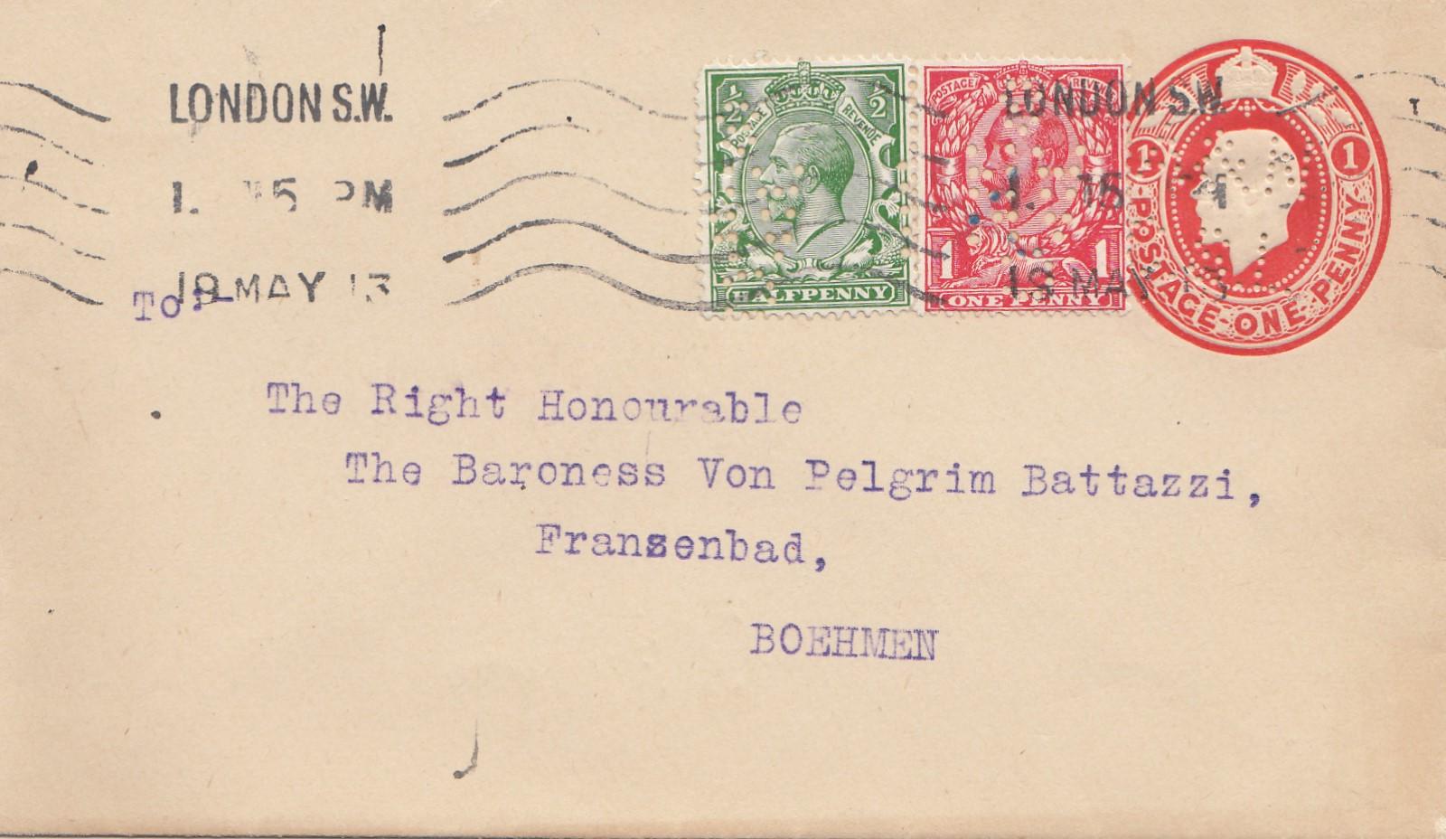 Brief Nach London Adresse : England brief von london nach böhmen ganzsachen