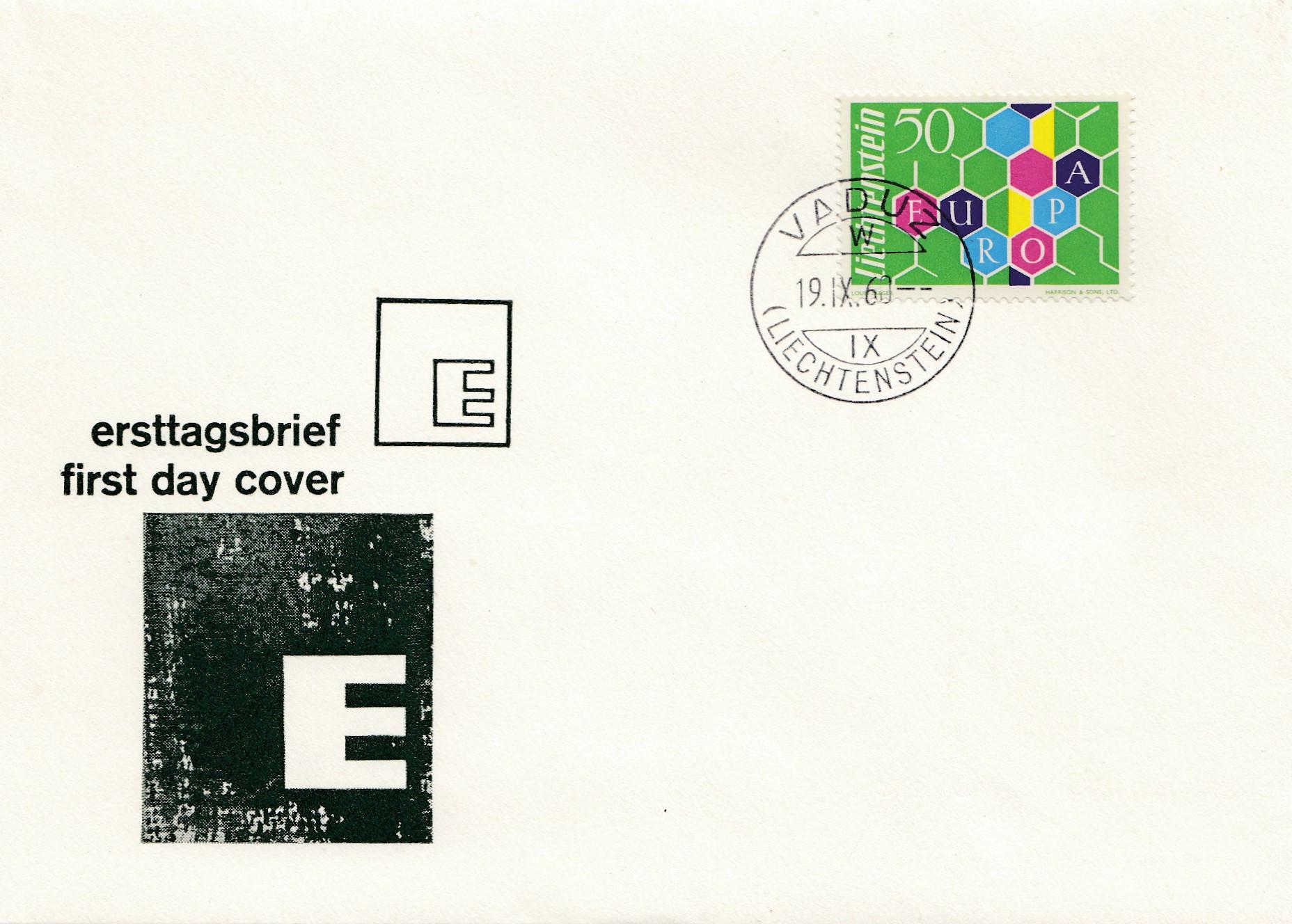 Liechtenstein-1960-FDC-Vaduz-Europa
