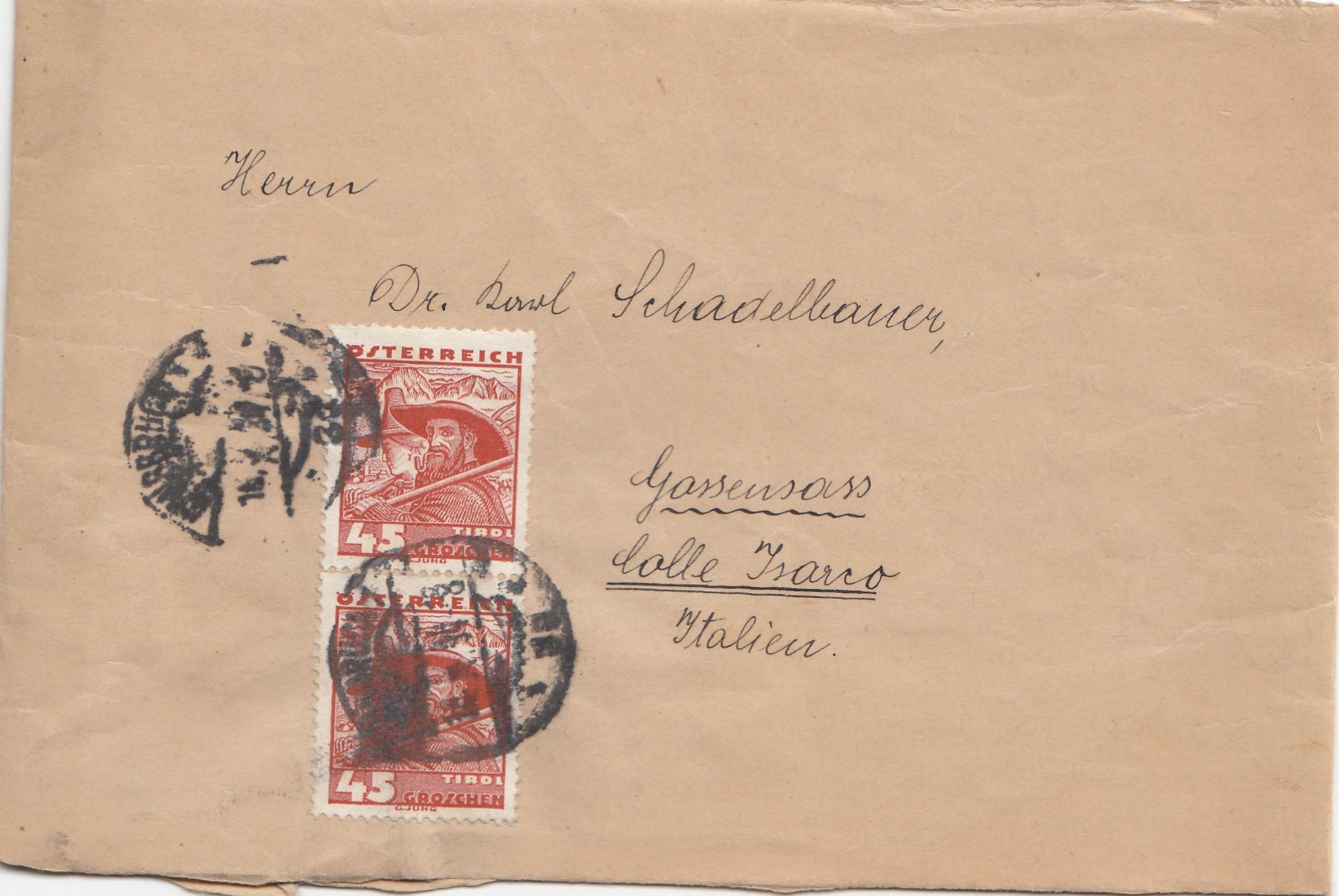 Brief Oesterreich Nach Deutschland : Österreich brief nach italien · philarena