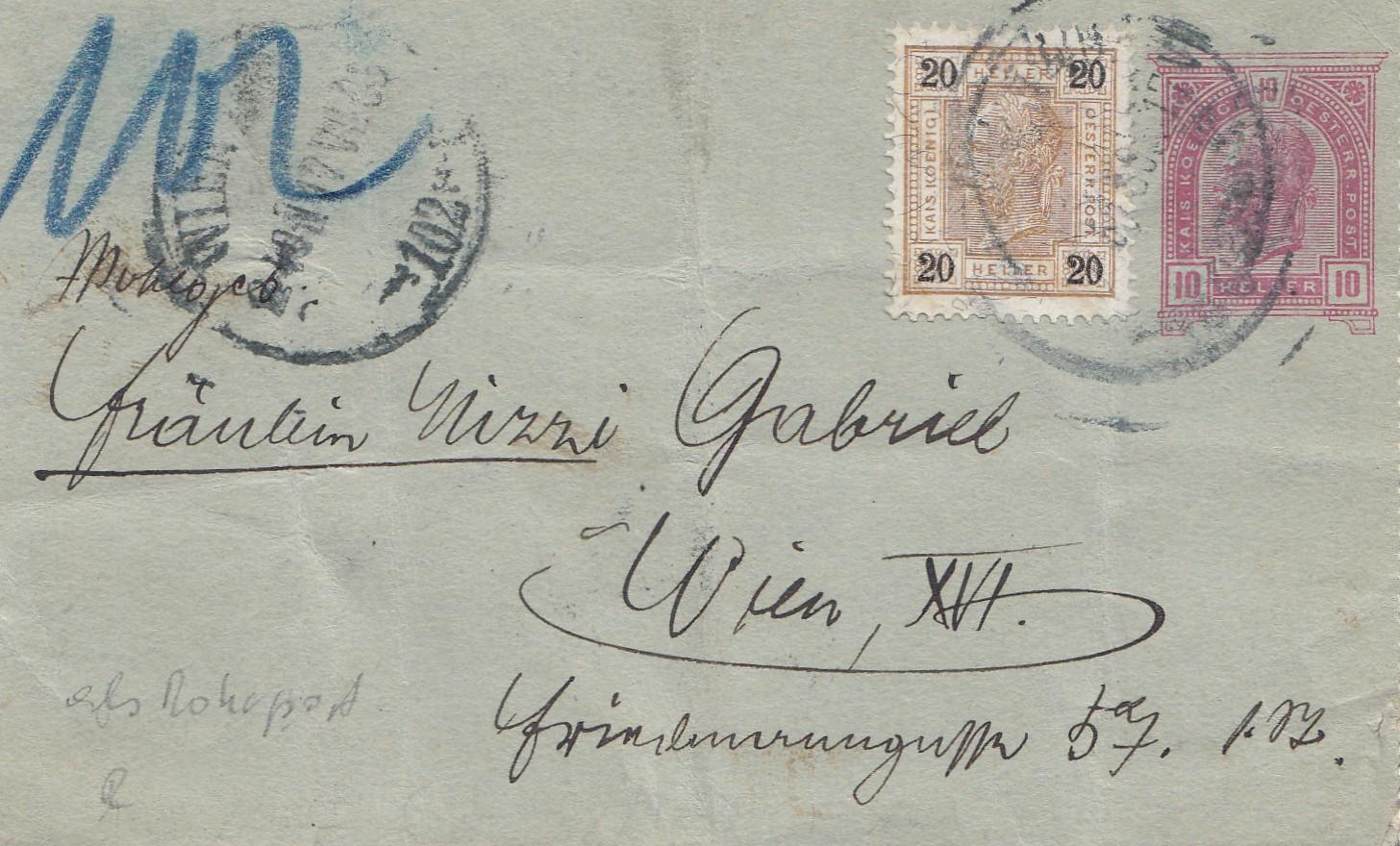 Brief Nach Wien Versenden : Österreich ganzsachenbrief nach wien · philarena