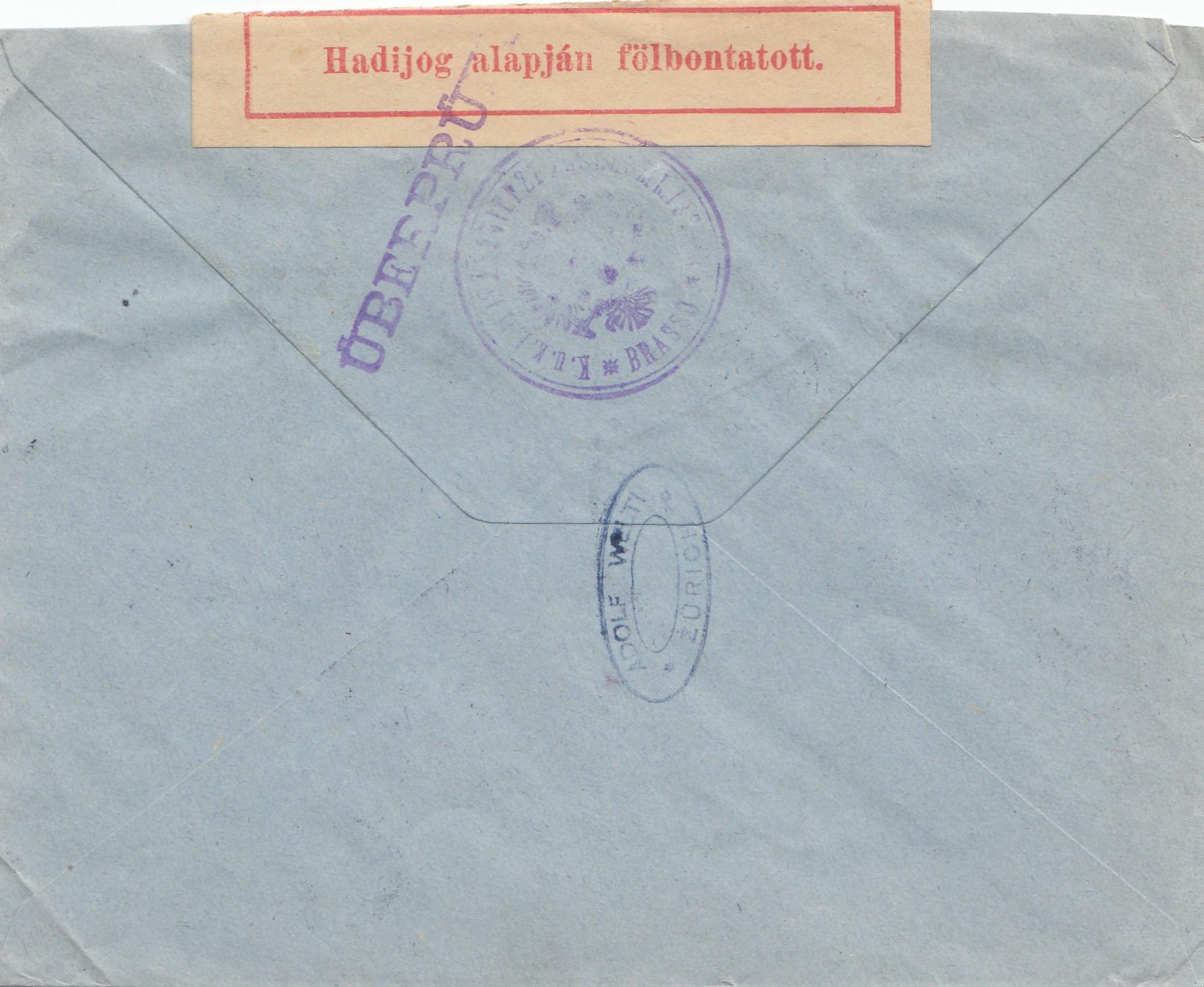 Brief Nach Zürich : Rumänien brief von galatz nach zürich zensur · philarena