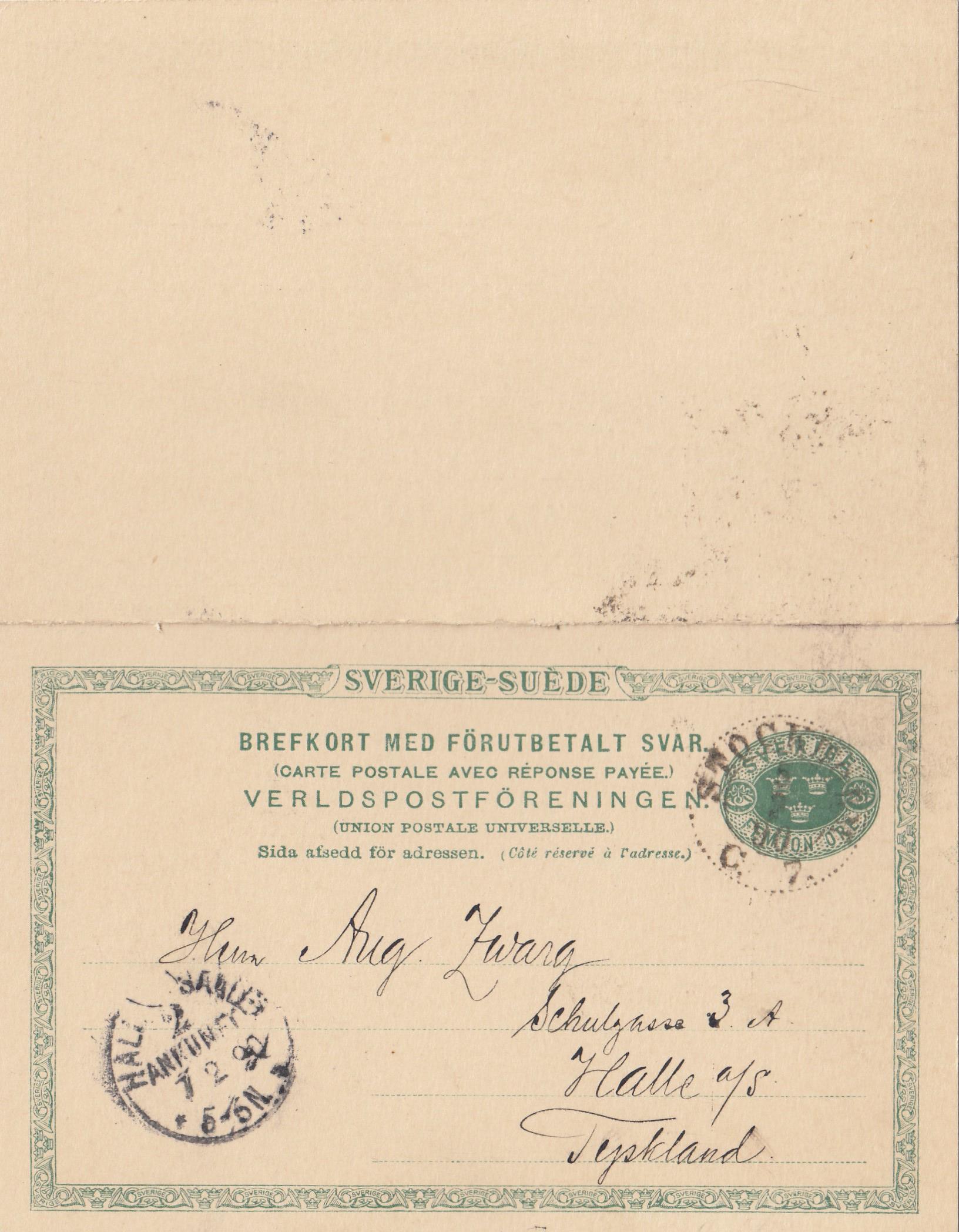 Schweden 1948 Luftpostbrief Mölle Nach Hamburg