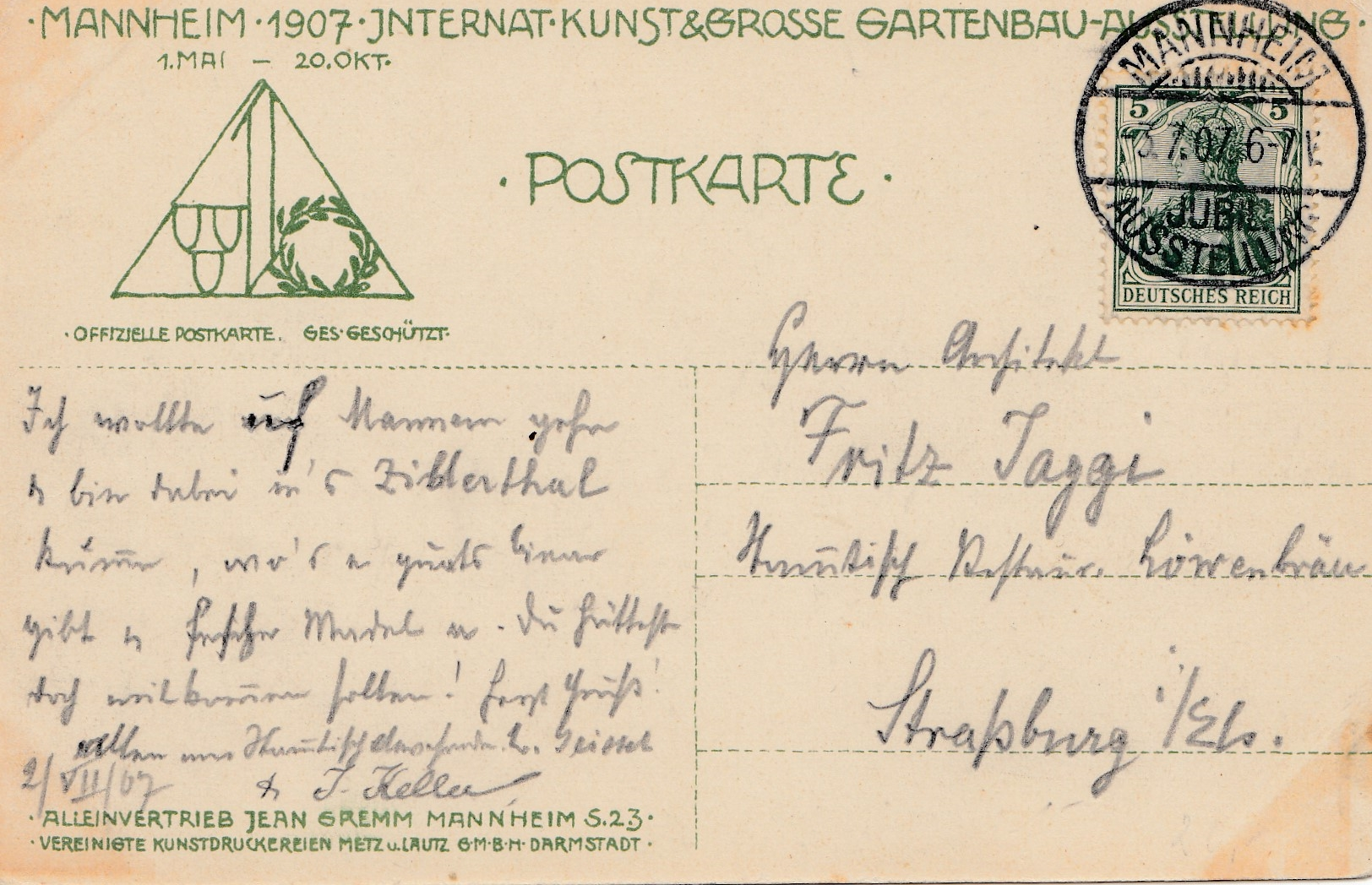 Gartenbau Mannheim ak jubiläums ausstellung mannheim 1907 kunst gartenbau philarena
