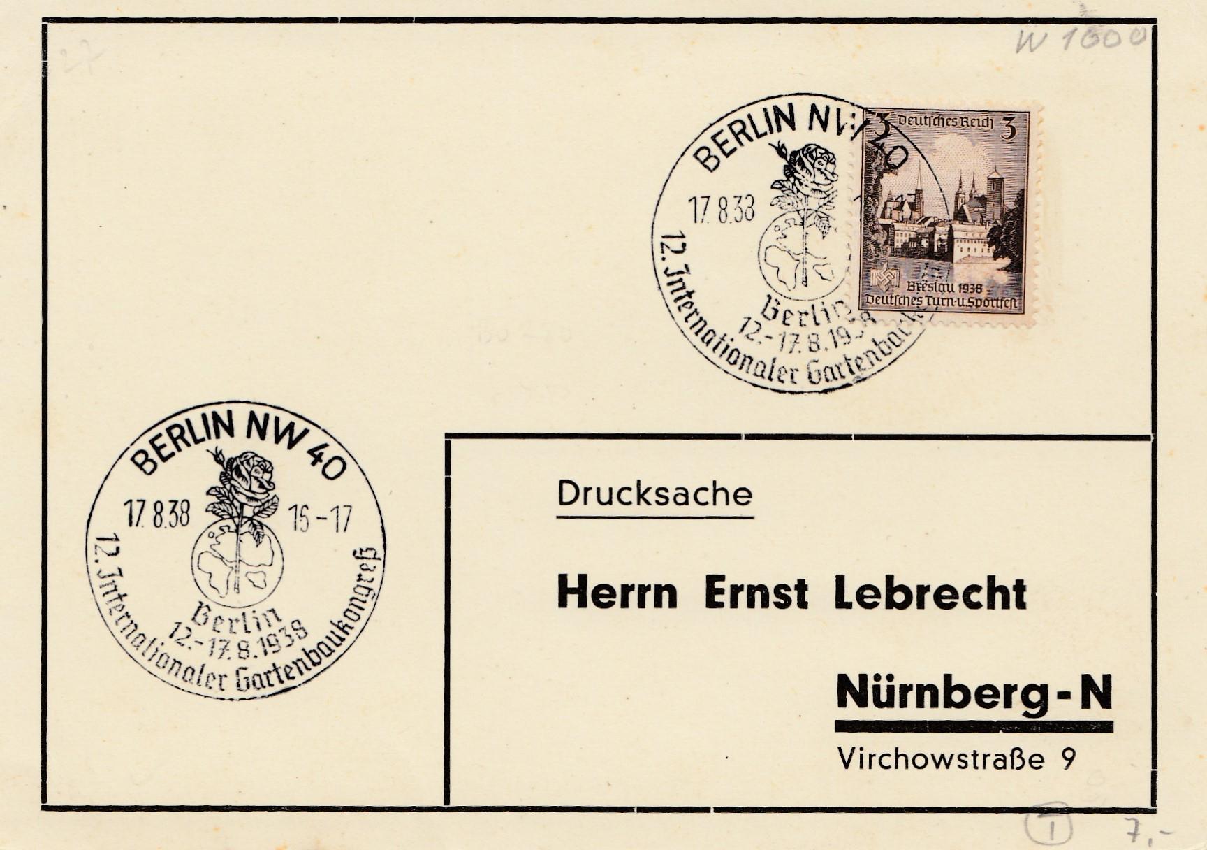 Gartenbau Nürnberg berlin internat gartenbau kongress 1938 nach nürnberg philarena