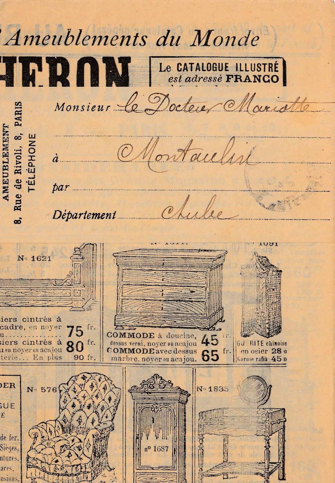 Möbelzeitung Streifband Au Bucheron Paris Kompletter