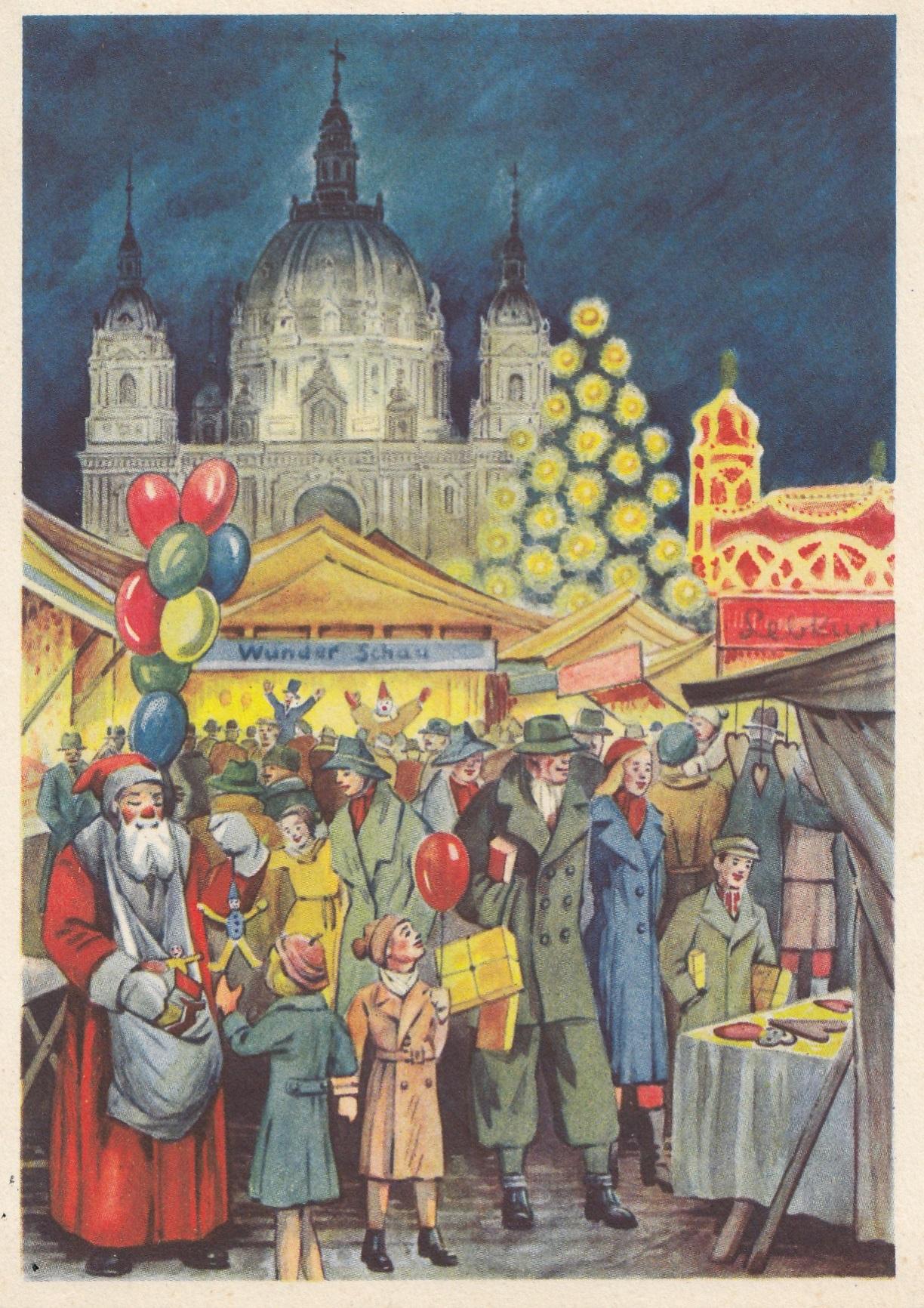 1938 ansichtskarte weihnachtsmarkt berlin lichtenfelde. Black Bedroom Furniture Sets. Home Design Ideas