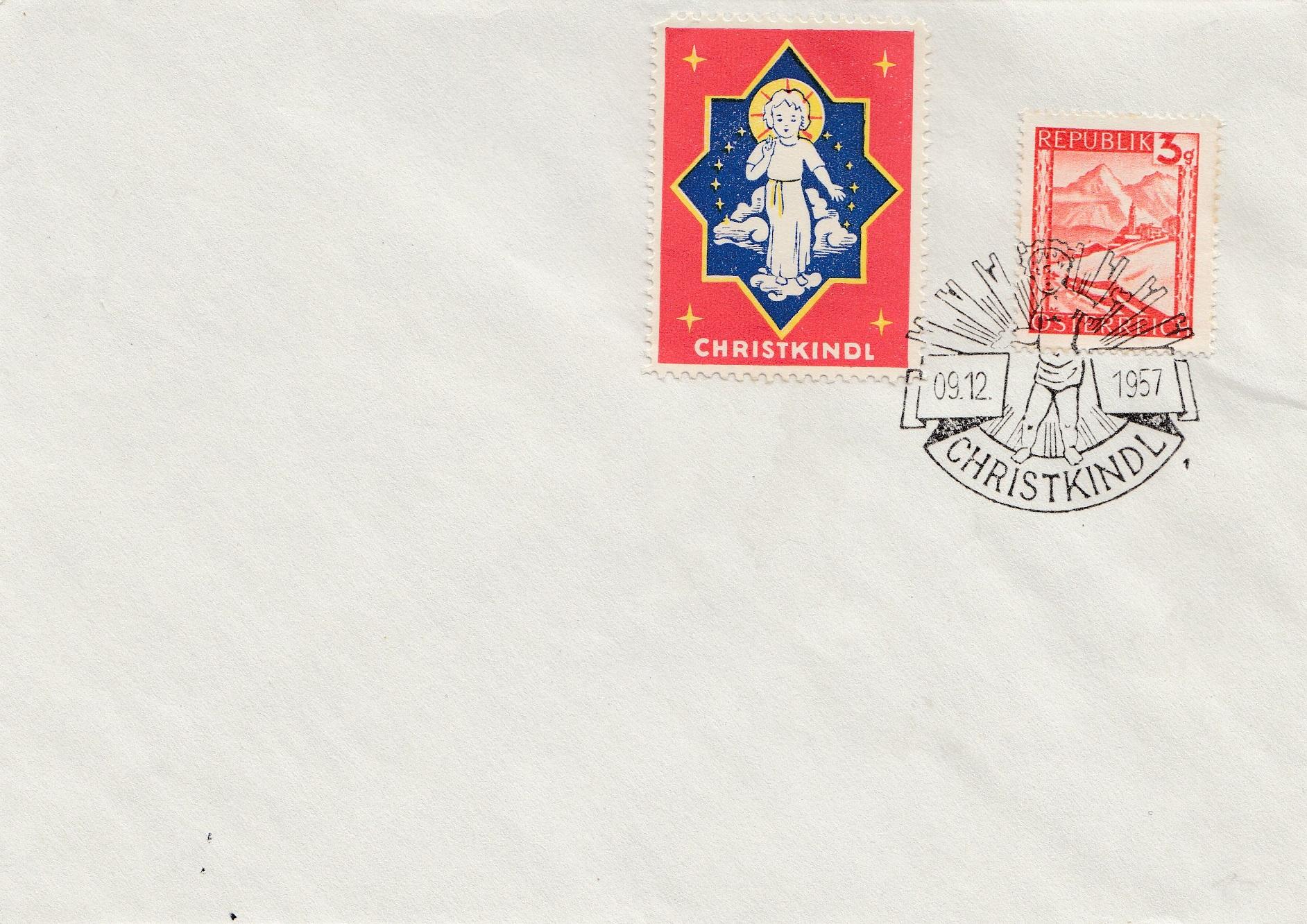 1957: Chrétien Kindl-autriche à Donner Carte Blanche Lettre Avec Vignette