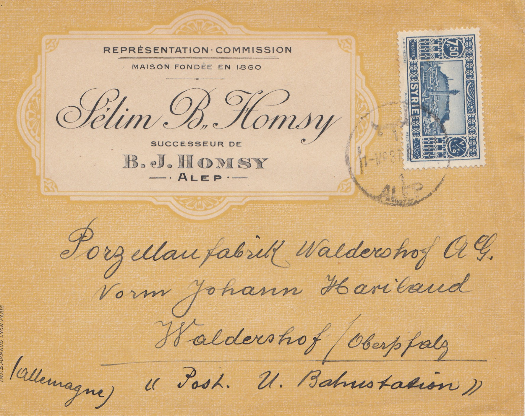 French-colonies-syrienne-Alep-1937-by-air-mail-to-walderhof-fabrica-de-porcelana